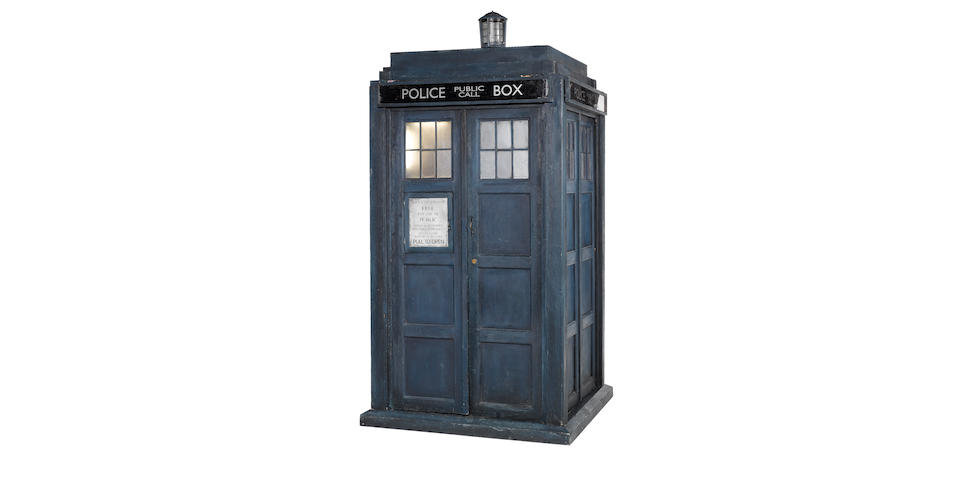 Doctor Who: Christopher Eccleston as the Ninth Doctor, A complete Tardis prop, circa 2005,