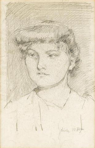 Egon Schiele (Austrian, 1890-1918) Portrait eines jungen Mädchens