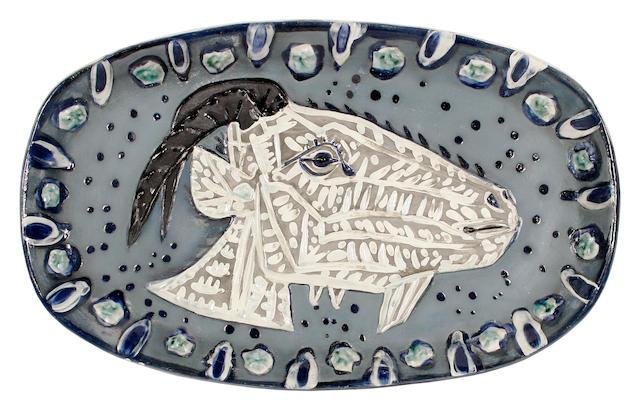 Pablo Picasso (Spanish, 1881-1973) Tête de chèvre de profil
