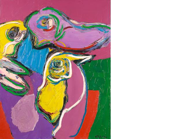 Karel Appel, Bird and Still Life, oil on canvas, 1971