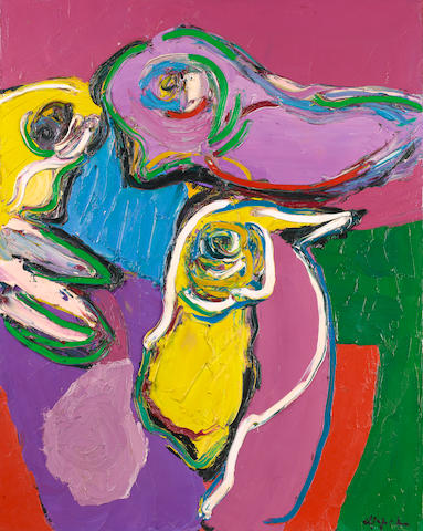 Karel Appel, Bird and Still Life, oil on canvas, 1971