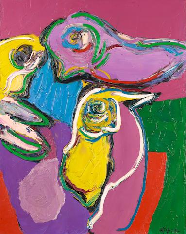 Karel Appel (Dutch, 1921-2006) 'Birds Waiting as Still Life', 1971