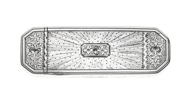 A George III silver toothpick box, by Samuel Pemberton, Birmingham 1789,
