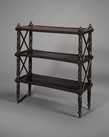 A Bombay wood Book Case Western India, circa 1850-60