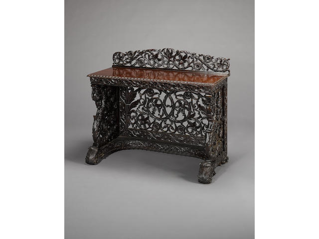 A pair of fine Bombay wood Side Tables Western India, circa 1840-50(2)