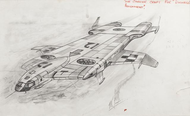 Thunderbirds: Carrier Aircraft (Wombat) from the episode 'Duchess Assignment',