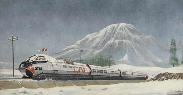 Joe 90: Canadian Monorail Train, from the episode 'Breakout',