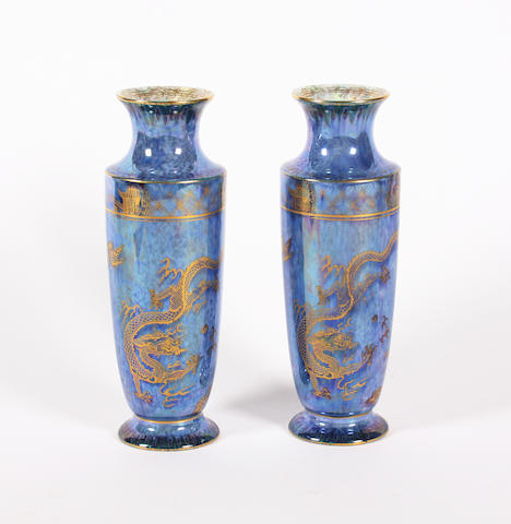 A pair of Wedgwood lustre vases