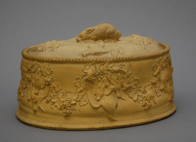 A Wedgwood caneware game pie dish and cover