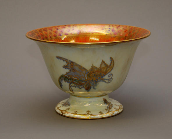 A Wedgwood butterfly lustre bowl
