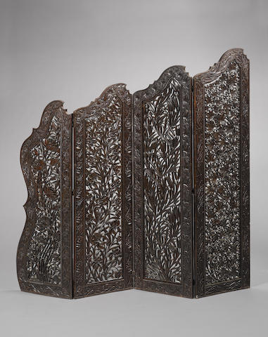 A fine wood Screen Northern India, circa 1880