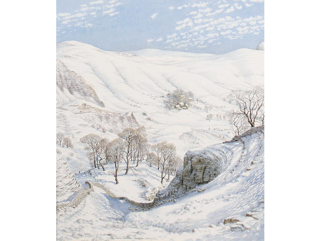 Stanley Roy Badmin RWS (British, 1906-1989) 'Snowy Morning, Mam Tor, Derbyshire'