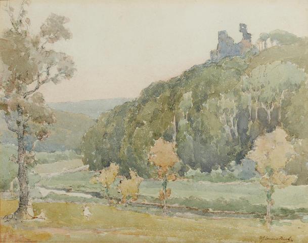 Samuel John Lamorna Birch, R.A., R.W.S., R.W.A. (British, 1869-1955) Okehampton Castle