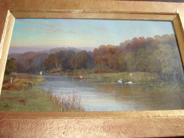 Robert Allan - Cliveden from the River Thames, signed oil