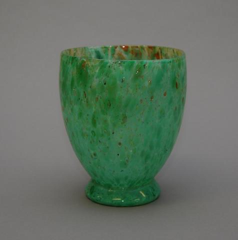 A Scottish glass vase
