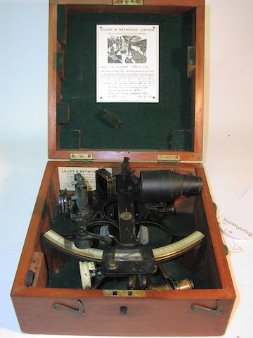 A 6.5in(17cm) radius micrometer sextant, 11x10.5x6in(28x27x15cm)