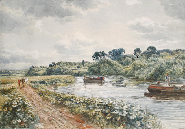 Samuel Bough, RSA (British, 1822-1878) On the Avon, near Bristol