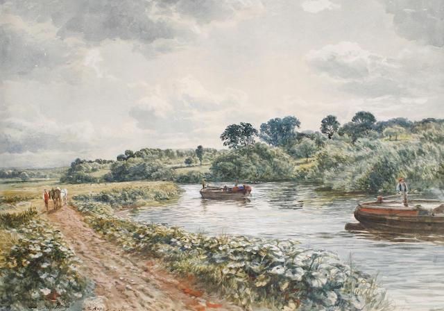 Samuel Bough, RSA (British, 1822-1878) On the Avon, near Bristol