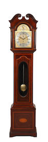 An Edwardian inlaid mahogany longcase clock by Dent of London