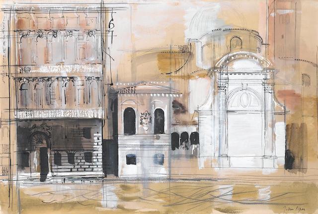 John Piper C.H. (British, 1903-1992) Venetian Facades 35.5 x 53 cm. (14 x 21 in.)