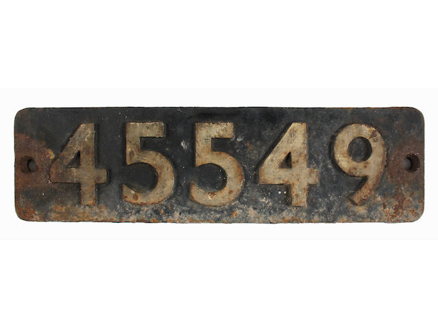 Smokebox numberplate 45549 from LMS Patriot class