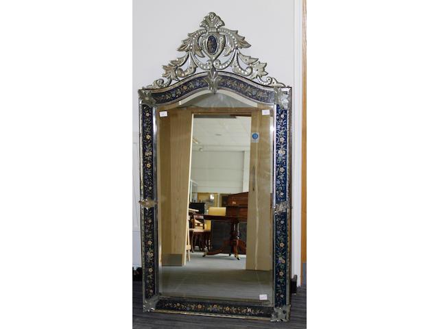 A Murano glass mirror,