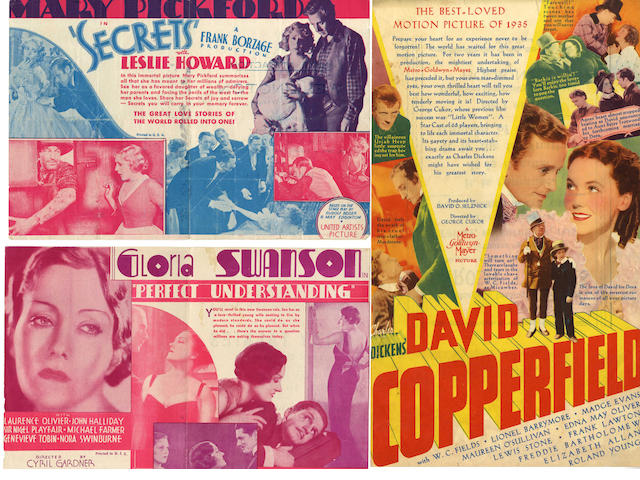 A collection of 1920's and later Heralds,  many relating to Gloria Swanson, Barbara Stanwyck, Tallulah Bankhead, Bette Davis, Mary Pickford and Joan Crawford, titles including:11