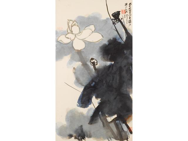 Zhang Daqian (1899-1983) Lotus