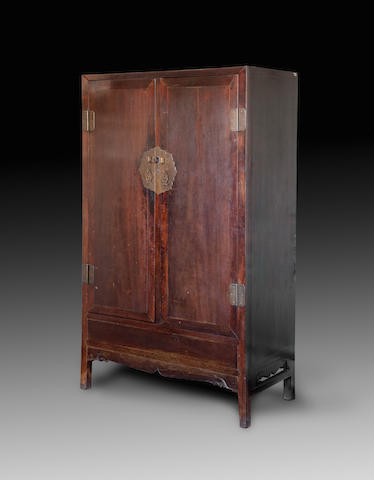 A pair of rare square-corner flush-sided jichimu cabinets Late Ming / early Qing dynasty