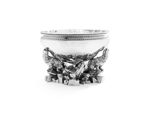 Of Canadian Interest: An important American silver ice bowl By Tiffany & Co, circa 1860, incuse stamped Tiffany & Co, English Sterling 925-1000, 550 Broadway, 1133 and 7481