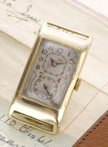 Rolex. A fine 9ct gold manual wind wristwatchPrince, Ref:1343A, Glasgow import mark for 1930