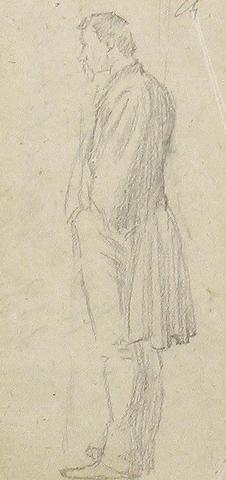 Charles Samuel Keene (British, 1823-1891) Figurative study