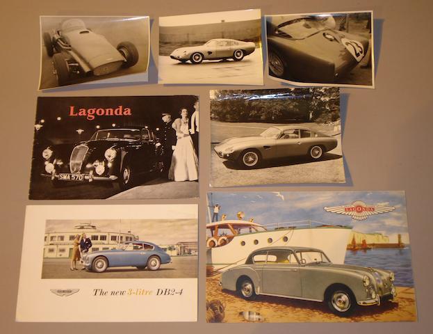 An Aston Martin DB2-4 3 litre sales brochure,