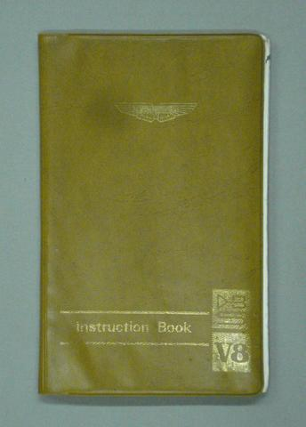 An Aston Martin DBS V8 Instruction Book,