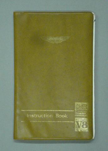An Aston Martin DBS V8 Instruction Book,