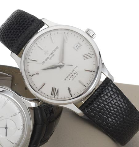 Vacheron Constantin. A fine 18ct white gold automatic wristwatchChronometre Royal, Case number 47021, movement number 847443, Recent