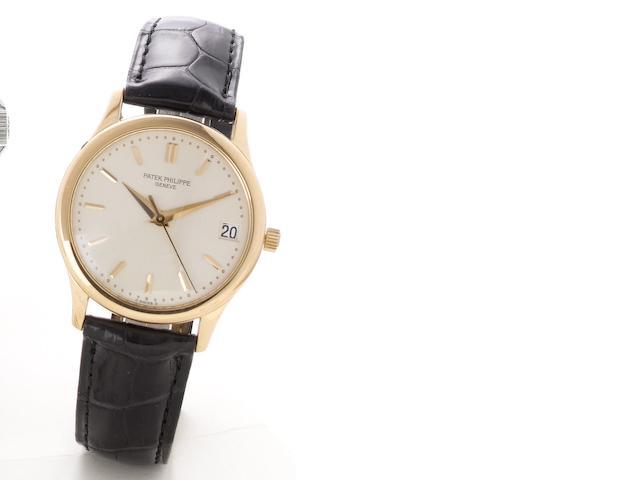 Patek Philippe. A fine 18ct rose gold centre seconds automatic calendar watch Ref:3998R, Case No.2996531, Movement No.3015252, recent