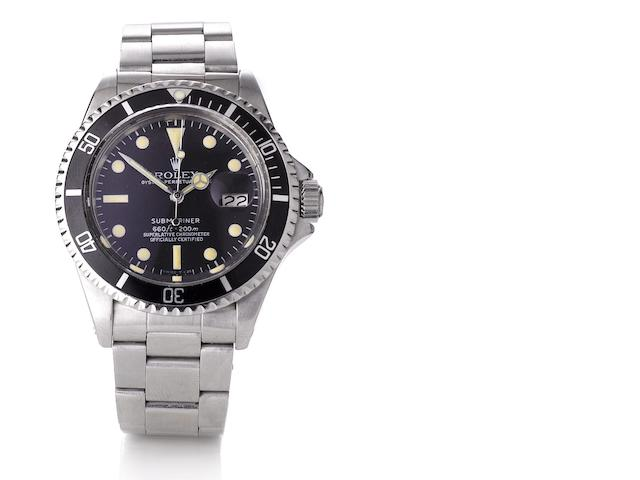 Rolex. A fine stainless steel automatic calendar wristwatch Submariner, Ref:1680, Case No.3816253, circa 1973