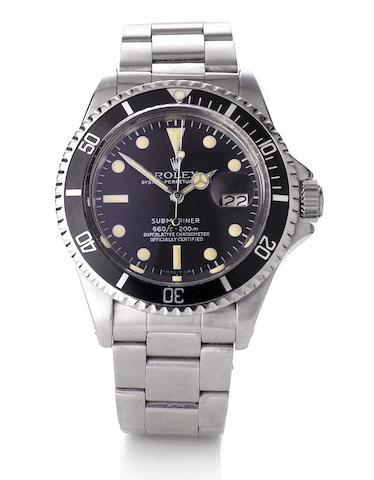 Rolex. A fine stainless steel automatic calendar wristwatch Submariner, Ref:1680, Case No.3816253, circa 1973