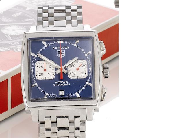 Tag Heuer. A stainless steel automatic chronograph bracelet watch Monaco, Ref: CAW2111.FC6183, Recent