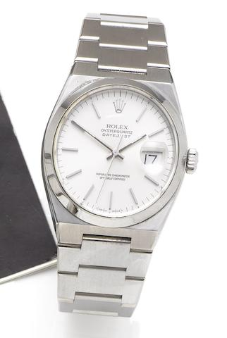 Rolex. A fine stainless steel quartz bracelet watchRef:17000, Serial No:E903659, circa 1990
