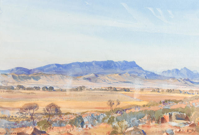 Sir Hans Heysen (German, 1877-1968) 'Wonoka landscape, Flinders Ranges'