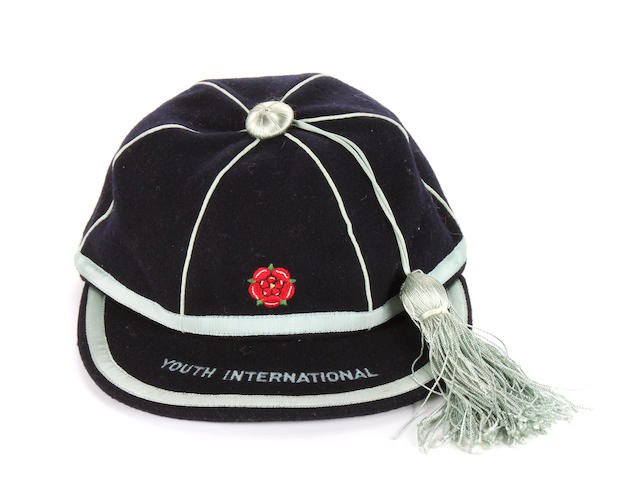 A 1963 Youth International Cap awarded to J.Grummett jnr
