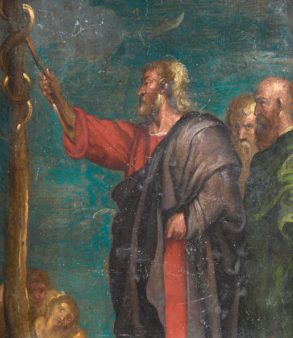 Antwerp School, 17th Century Moses and the Bronze Snake