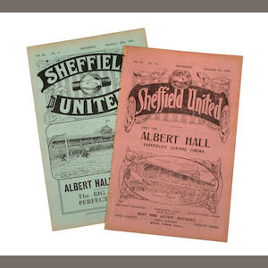 1925 Sheffield United v Bolton and 1931 v Arsenal programmes