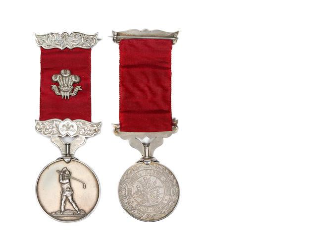 A silver Royal North Devon Golf Club golfing medal