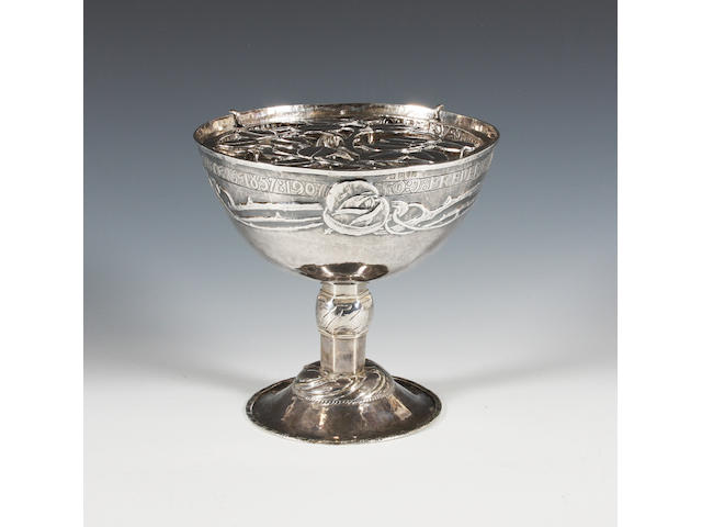 An Arts and Crafts silver rose bowl by Hugh Wallis Chester, 1907,