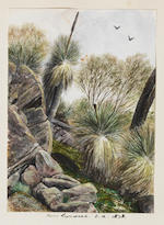 Reverend Alfred Sells (English, 1822-1908) An album of topographical watercolours in England, Continental Europe and Australia, including sketches depicting the artist's voyage aboard the S.S. Somersetshire