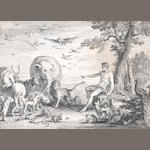 A Large Collection English and Continental Prints Including a nineteenth century English album of Old Master and Decorative Prints  Album unframed