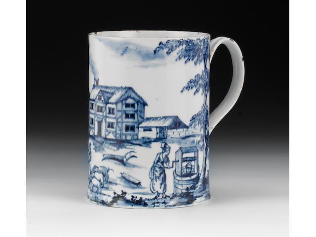 The celebrated Isleworth farming scene mug, dated 1779